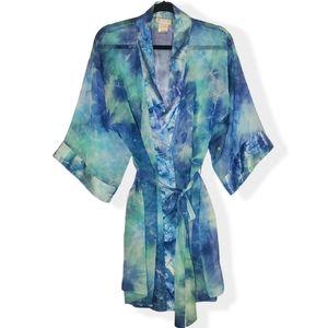 Vintage California Dynasty Sheer Robe with Sash